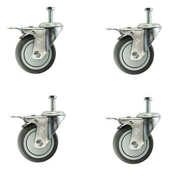 Set of 4 Locking Casters for Traxx Mobility Titan 500 Patient Lift