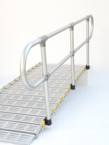 Roll a ramp Portable Wheelchair Ramp Handrails Rounded